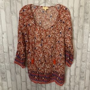 Anthropologie | Lucy & Laurel Patterned Blouse